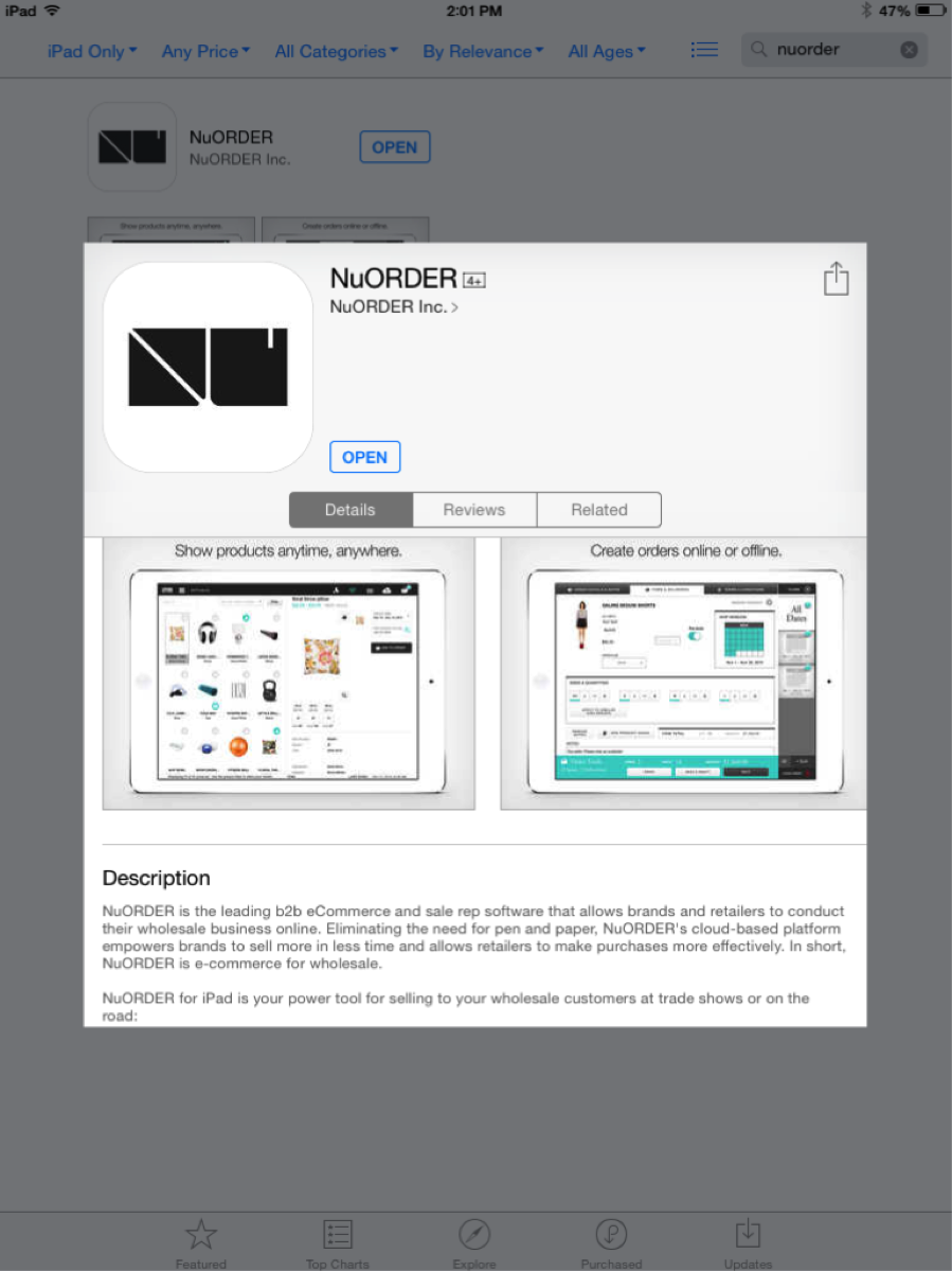 How To Download & Install Or Update The NuORDER iPad App – NuORDER